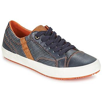 Chaussures Garçon Baskets basses Geox J ALONISSO B. A Marine / Marron
