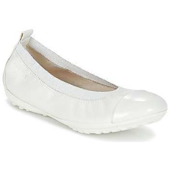 Chaussures Fille Ballerines / babies Geox J PIUMA BALL B Blanc