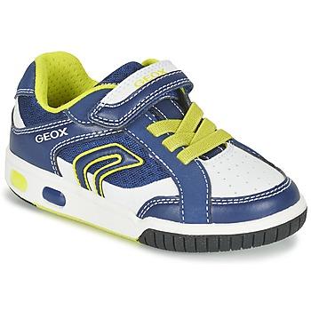 Chaussures Garçon Baskets basses Geox J GREGG A Bleu / Citron