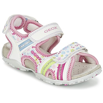 Chaussures Fille Sandales sport Geox J S.ROXANNE A Blanc / Rose