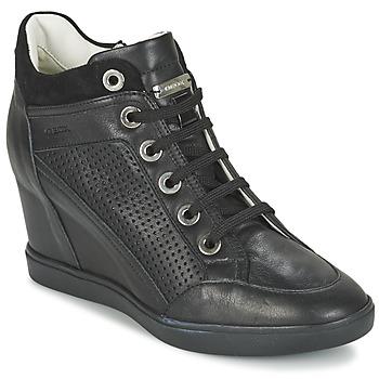Chaussures Femme Baskets montantes Geox ELENI C Noir