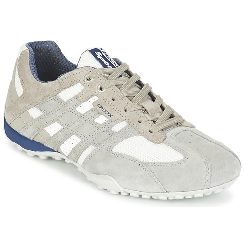 Chaussures Homme Baskets basses Geox SNAKE Gris / Blanc