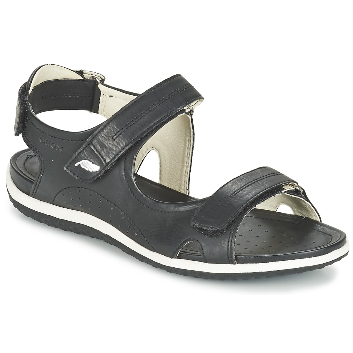 geox d sand vega a noir chaussure pas cher avec chaussures sandale femme 79 99. Black Bedroom Furniture Sets. Home Design Ideas