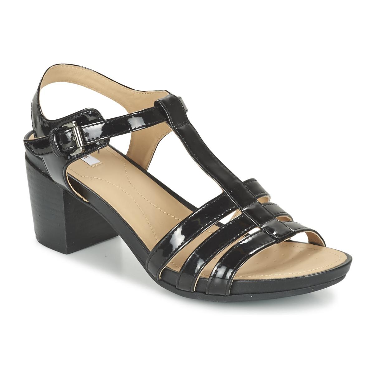 geox d symi c noir chaussure pas cher avec chaussures sandale femme 94 99. Black Bedroom Furniture Sets. Home Design Ideas
