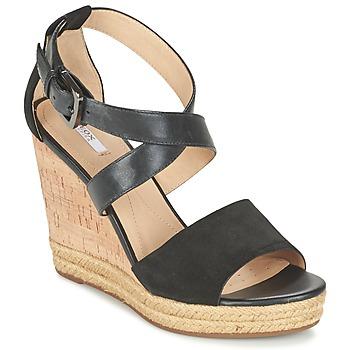 Chaussures Femme Sandales et Nu-pieds Geox D JANIRA E Noir