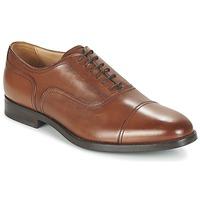 Chaussures Homme Richelieu Geox U HAMPSTEAD C Cognac
