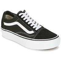 Chaussures Baskets basses Vans UA OLD SKOOL PLATFOR Noir / Blanc