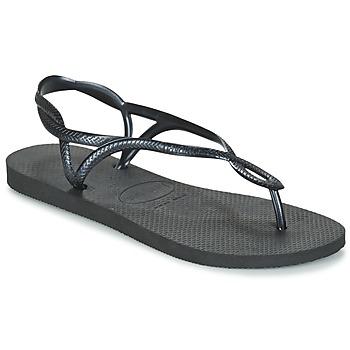 Chaussures Femme Tongs Havaianas LUNA Noir