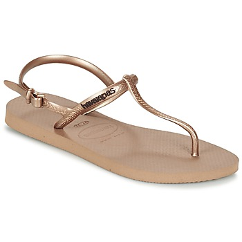 Chaussures Femme Tongs Havaianas FREEDOM Rose / Doré