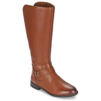 Chaussures Femme Bottes ville Clarks MINT TREAT GTX Marron
