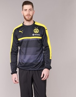 Vêtements Homme Sweats Puma BVB TRAINING SWEAT Noir / Jaune