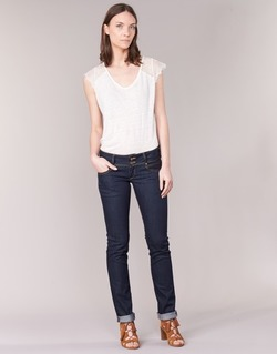 Vêtements Femme Jeans droit Le Temps des Cerises 220 Bleu Brut
