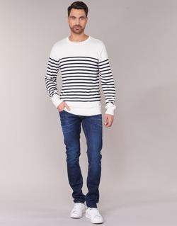 Vêtements Homme Jeans droit Le Temps des Cerises 711 Bleu Foncé