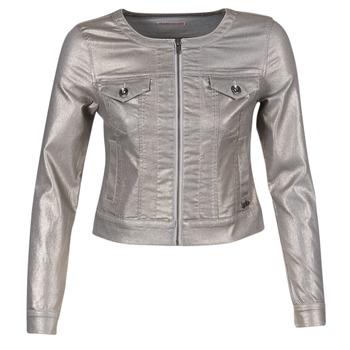 Vêtements Femme Vestes en jean Les P'tites Bombes OMILATE Argenté