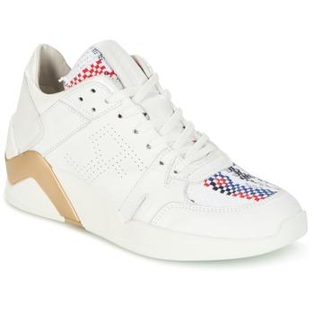 Chaussures Femme Baskets montantes Serafini CHICAGO Blanc / Doré