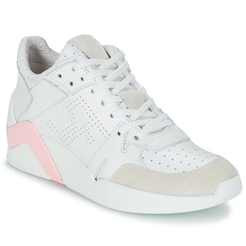 Chaussures Air max tnFemme Baskets montantes Serafini CHICAGO Blanc / Rose