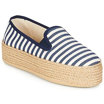 Chaussures Air max tnFemme Espadrilles Betty London GROMY Marine / Blanc