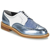Chaussures Femme Derbies Robert Clergerie ROELTM Bleu Metalisé / Blanc