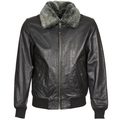 Vêtements Homme Vestes en cuir / synthétiques Schott FELIATO Noir