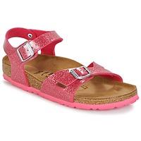 Chaussures Enfant Sandales et Nu-pieds Birkenstock RIO Rose pailleté