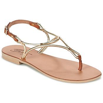 Chaussures Femme Sandales et Nu-pieds Betty London GARDO Doré / Camel