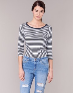 Vêtements Femme T-shirts manches longues Vero Moda MARLEY Marine / Blanc