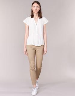 Vêtements Femme Pantalons 5 poches Vero Moda BUENO Beige