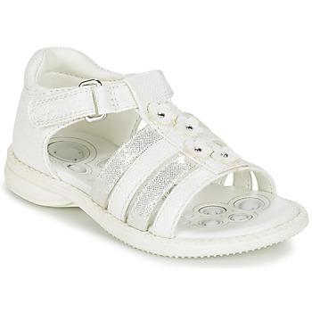 Chaussures Fille Sandales et Nu-pieds Chicco CAROTA Blanc / Argenté