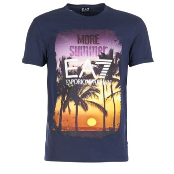 Vêtements Homme T-shirts manches courtes Emporio Armani EA7 TRAIN GRAPHIC Bleu