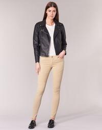 Vêtements Femme Pantalons 5 poches Noisy May EVE Beige
