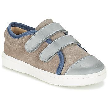 Chaussures Garçon Baskets basses Citrouille et Compagnie GOUTOU Gris / Taupe / Bleu