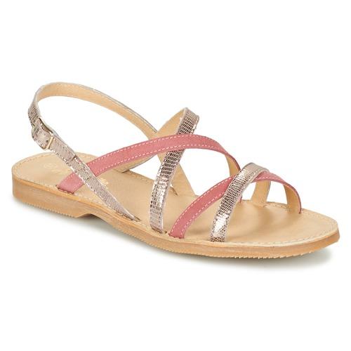 Chaussures Fille Sandales et Nu-pieds Citrouille et Compagnie GENTOU Rose / Argenté