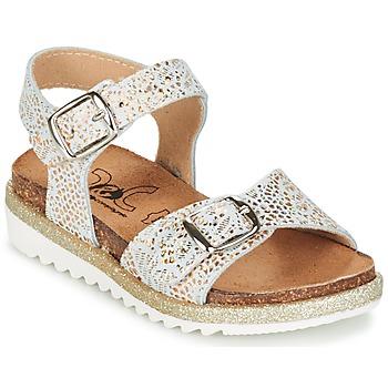 Chaussures Fille Sandales et Nu-pieds Citrouille et Compagnie GUAFRETTE Doré / Blanc