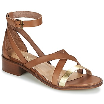 Chaussures Femme Sandales et Nu-pieds Casual Attitude COUTIL Camel / Or