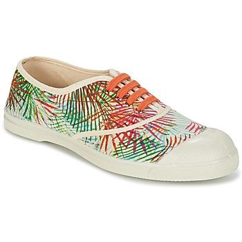 Chaussures Air max tnFemme Baskets basses Bensimon TENNIS FEUILLES EXOTIQUES Ecru / Orange / Vert