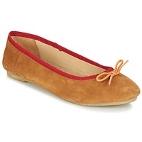 Chaussures Femme Ballerines / babies Kickers BAIE Marron clair / Orange