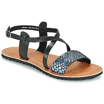 Chaussures Femme Sandales et Nu-pieds Kickers VIPA Noir