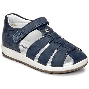 Chaussures Garçon Sandales et Nu-pieds Kickers SOLAZ Marine