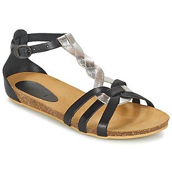 Chaussures Fille Sandales et Nu-pieds Kickers BOMTARDES Argenté / Noir
