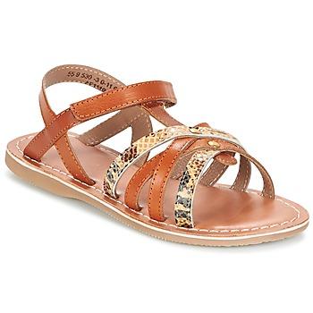 Chaussures Fille Sandales et Nu-pieds Kickers FARAH Camel