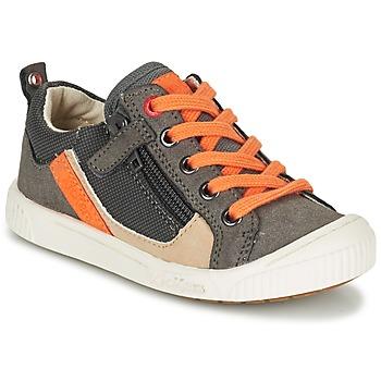 Chaussures Air max tnGarçon Baskets basses Kickers ZIGZAGUER Gris / Orange