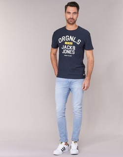 Vêtements Homme Jeans slim Jack & Jones LIAM JEANS INTELLIGENCE Bleu clair