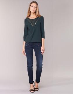 Vêtements Femme Jeans slim Freeman T.Porter ALEXA SLIM SDM Bleu foncé