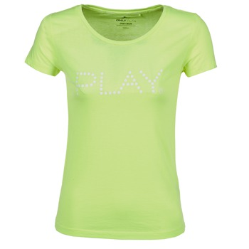 Vêtements Femme T-shirts manches courtes Only Play BASIC Jaune