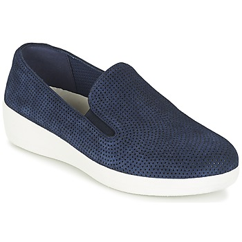 Chaussures Femme Slip ons FitFlop SUPERSKATE (PERF) Marine