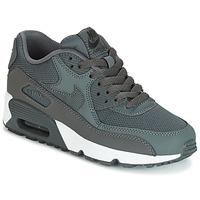 Chaussures Air max tnGarçon Baskets basses Nike AIR MAX 90 MESH GRADE SCHOOL Gris