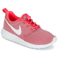 Chaussures Air max tnFille Baskets basses Nike ROSHE ONE GRADE SCHOOL Rose / Blanc