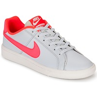 Chaussures Air max tnFille Baskets basses Nike COURT ROYALE GRADE SCHOOL Gris / Rose