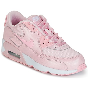 Chaussures Air max tnFille Baskets basses Nike AIR MAX 90 MESH SE PRESCHOOL Rose