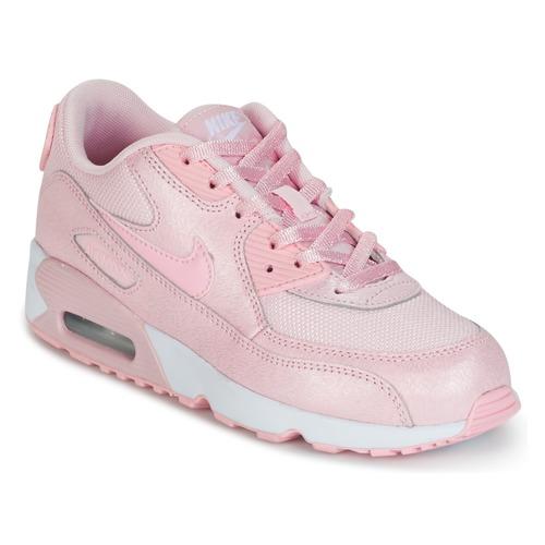 Chaussures Air max tnFille Baskets basses Nike AIR MAX 90 MESH SE PRESCHOOL Rose